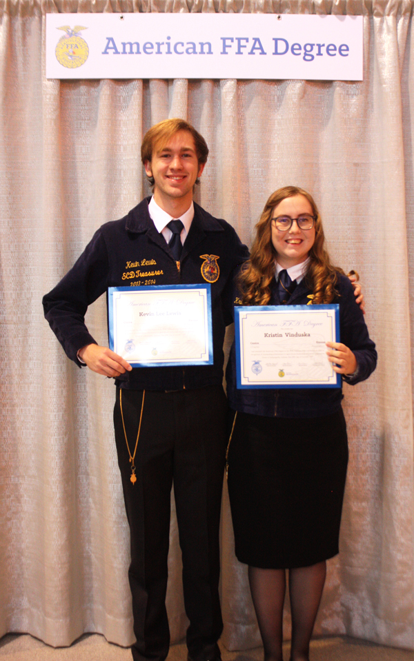 Centre FFA members receive American Degree