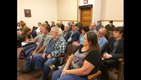 Patrons come to hear about wind turbine project