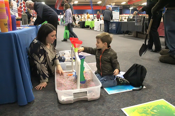 Children enjoyed hands-on activities at the St. Luke Hospital booth while their parents visited other exhibitors.