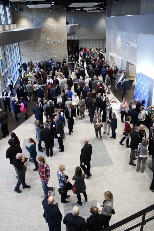 Following the dedication ceremony on Saturday afternoon, attenders were invited to enjoy refreshments in the spacious Regier Atrium and tour the facility.