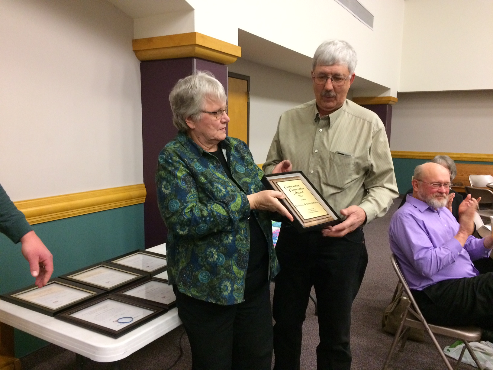 Susan and Ronnie Carlson of Lincolnville received the 2018  Continuation Conservation Award, sponsored by the Marion County Conservation District.<p>