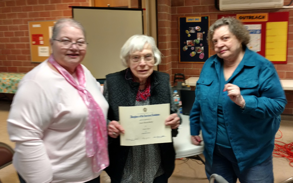 Local woman receives 70-year award from DAR