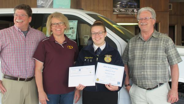 HHS senior receives $1,000 National FFA Scholarship through Ford