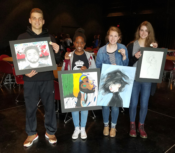 Hillsboro High students earn medals at Central Kansas League art contest