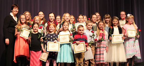 Hancock piano students present annual performance at USD 408 Performing Arts Center