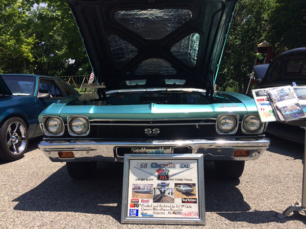 """This 1968 Chevelle SS, owned by Mike and Karen Reynolds of Augusta, received the """"Club Choice Award"""" at this year's show. Patty Decker photo"""