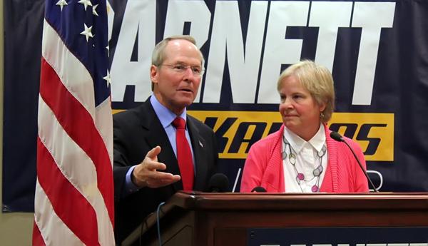 Barnett picks wife as running mate