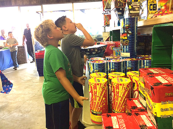 Local groups ignite fundraising with fireworks