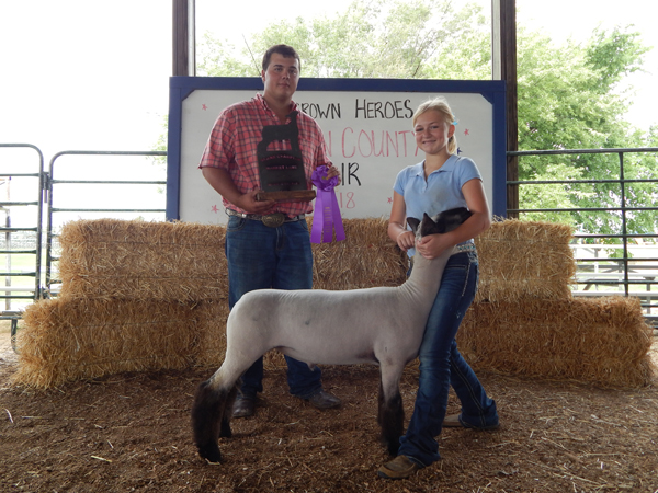 Courtesy Photo Calleigh Soyez - Grand Champion, Market Lamb and Breeding Sheep.