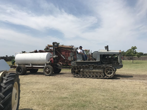 Plow demonstration from days past was one of the highlights of the Goessel Threshing Days last week. Laura Fowler Paulus / Free Press