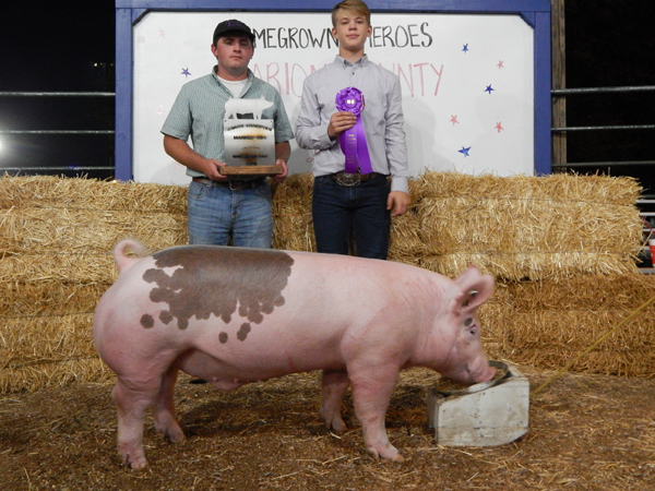 Courtesy Photo Landon Roberts Grand Champion, Market Swine