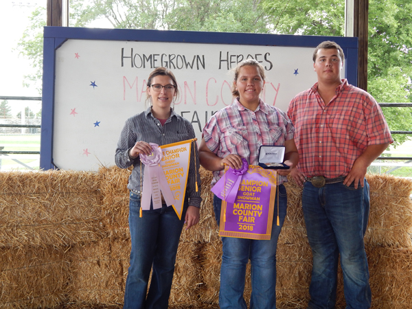 Courtesy Photo Meat Goat Showman Grand and Reserve Grand - Morgan Gaines and Corin Parmley