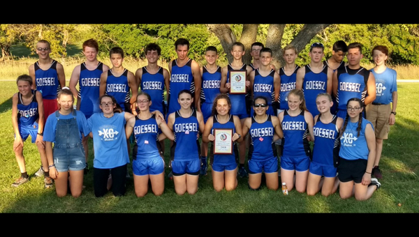 Both the girls and boys Goessel Cross Country teams won the Marion Invitational last week. Courtesy Photo