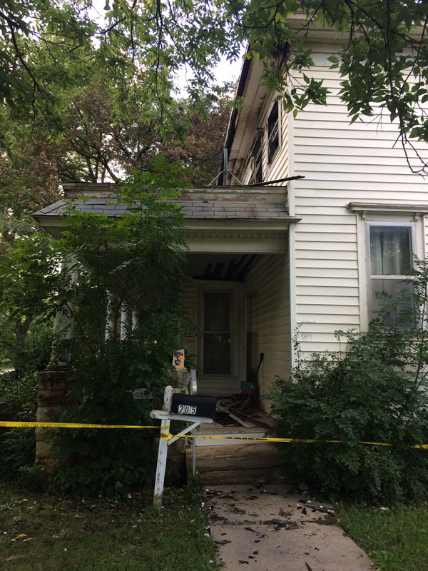 One of the oldest houses in Marion has been damaged by a fire that hit last week. Patty Decker / Free Press