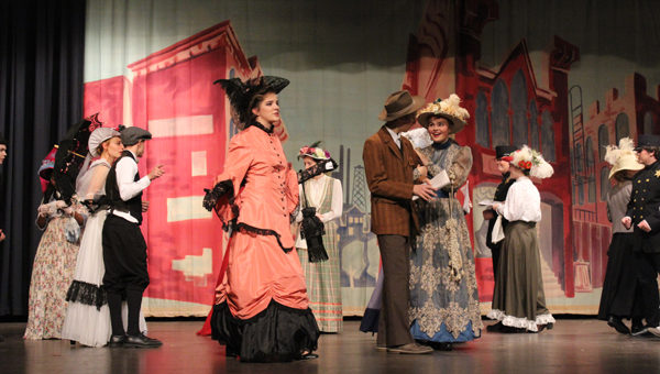 Jenna Hinerman, left center, stars as Dolly in the Hillsboro High School musical Hello, Dolly! Laura Fowler Paulus / Free Press