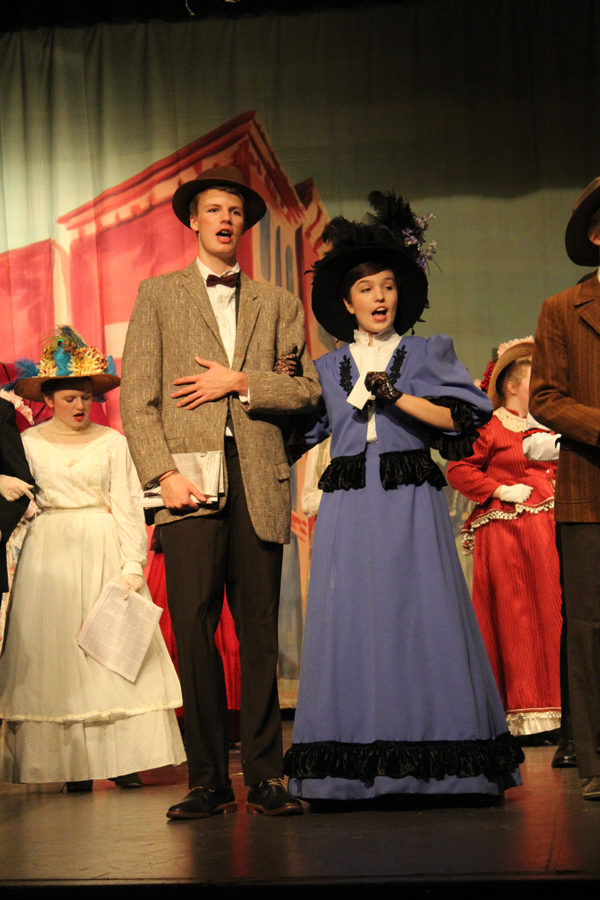 Carson Linnens and Grace Major sing during the opening act of Hello, Dolly! Laura Fowler Paulus / Free Press