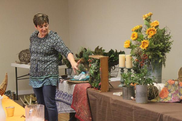 Cheri Ochs Wheeler explains some of her creations.