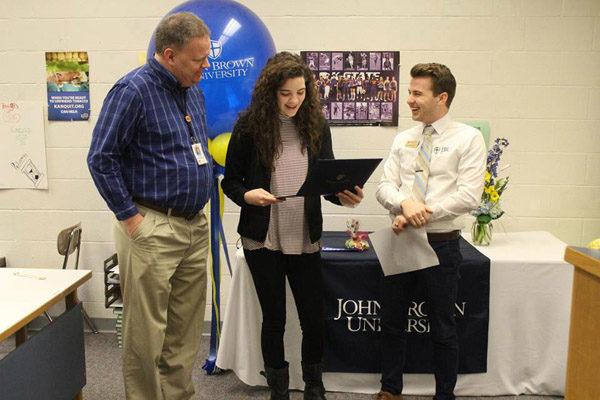 Hinerman chosen for Presidental Scholarship from John Brown University