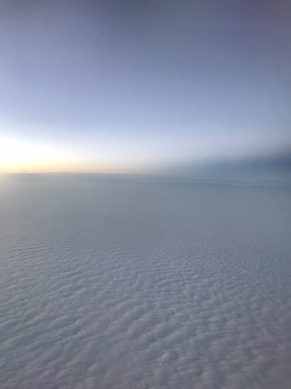 The view from outside a plane window