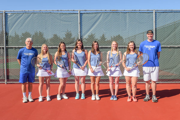 Bluejay women's tennis team building on tradition