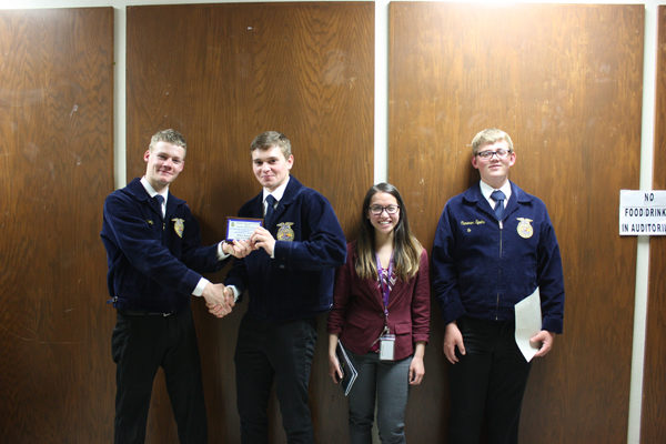 Centre FFA Chapter participates in banquet