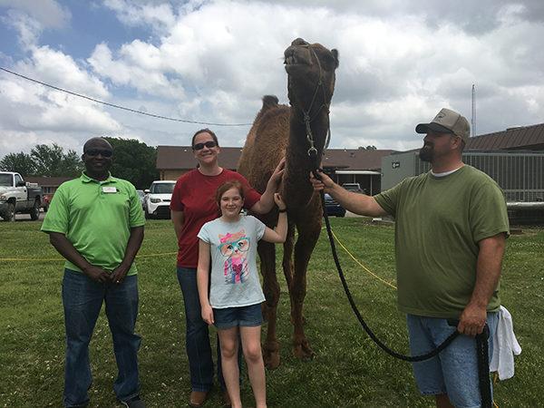 Sully the Camel visits Salem Home