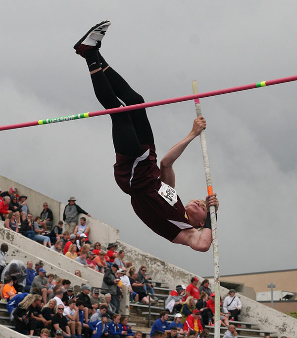 Nate Hein, a freshmen, took the gold for pole vault. He also ran in the 100M dash and got 14th.