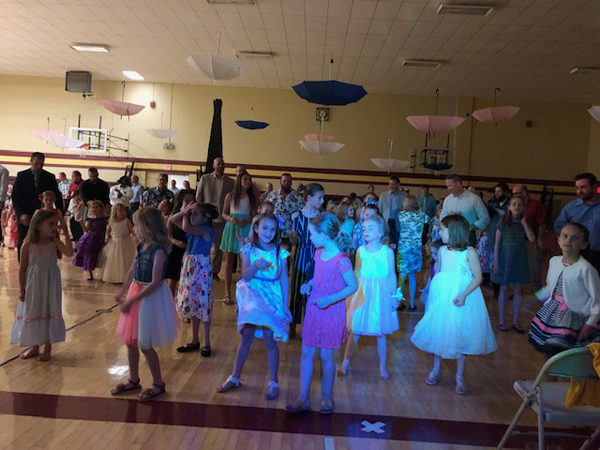 98 little girls and their dads (or other male family members) attended the daddy/daughter dance on Saturday evening. Phoebe Jantzen/Free Press