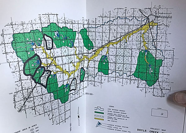 Watershed map. Laura Fowler Paulus