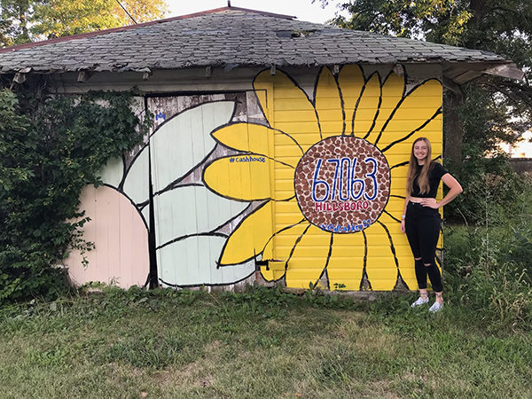 Tabor College student gives color to blank canvas in Hillsboro
