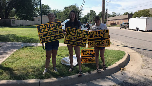 Students raise funds selling mattresses
