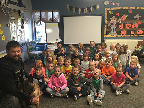 Marion Kindergarteners learn civic engagement with special project