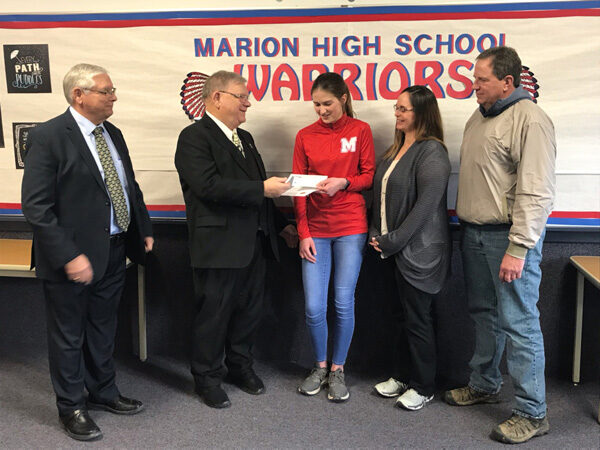 Marion student wins Masonic Lodge award