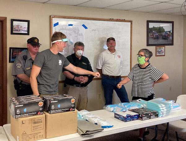 Peabody departments get PPE donation