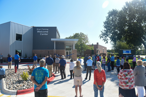 Tabor College cuts ribbon on new welcome center